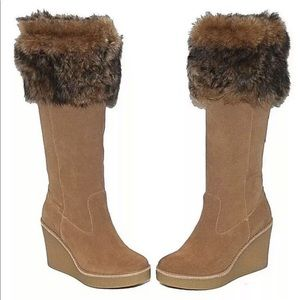 Ugg tall wedge boots Valberg Chestnut